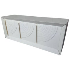 White Lacquered Wood Sideboard, circa 1970, Italy