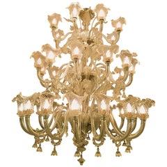 Ercole Barovier 1900 Art Nouveau Murano Chandelier 36 Lamps