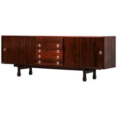 Italian Rosewood Sideboard, 1960s Design in Style of Gianfranco Frattini