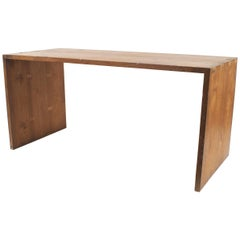 American Country Style Dark Stained Pine Work Table Desk