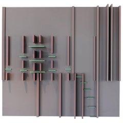 """David Barr, """"Structurist Relief No. 93"""", 1973"""