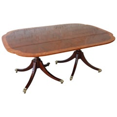 Baker Furniture Historic Charleston Collection Banded Mahogany Dining Table