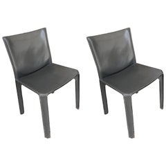 Pair of Cassina Cab Side Chairs