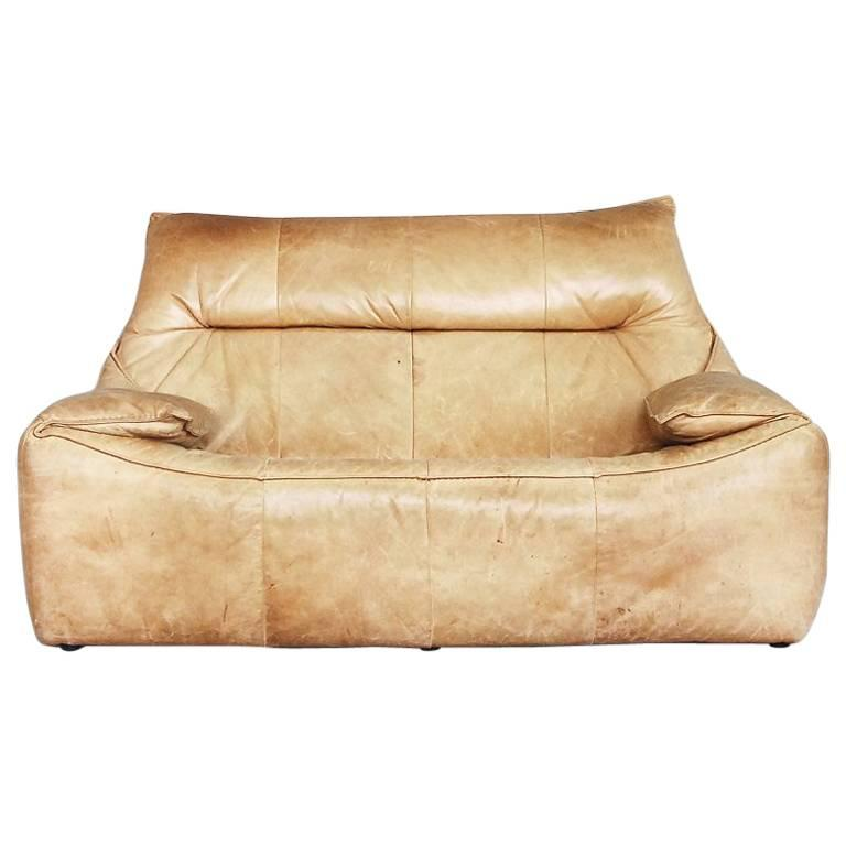 Leather the Rock Sofa by Gerard Van Den Berg for Montis, 1970s For Sale