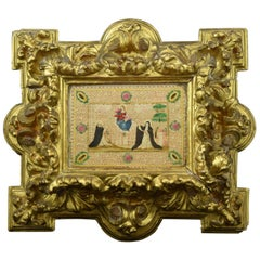Frame with Vellum Painting, 17th Century