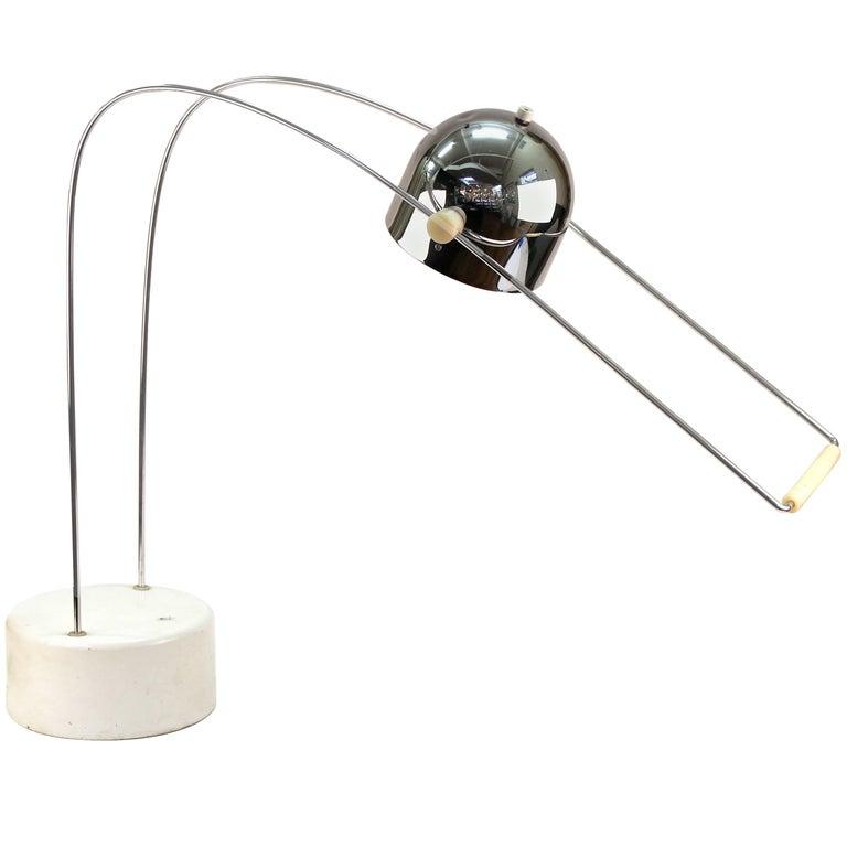 Modernist Adjustable Chrome Desk Lamp