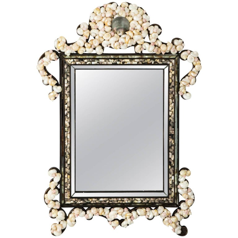 Shell Encrusted Mirror by La Barge