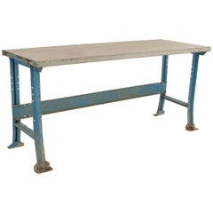 American 1940s Industrial Steel Work Table