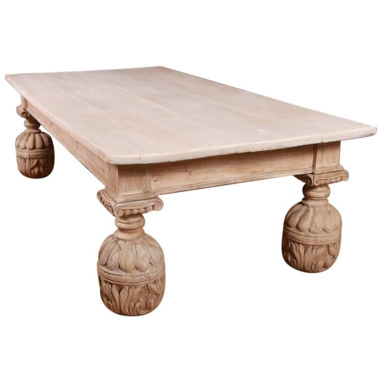 Bleached Oak Coffee Table
