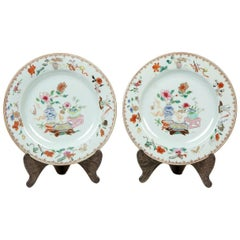 """""""India Company"""" Pair of Dishes, Porcelain, 19th Century"""