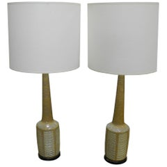 Pair of Danish Modern Palshus Ceramic Lamps for Hansen