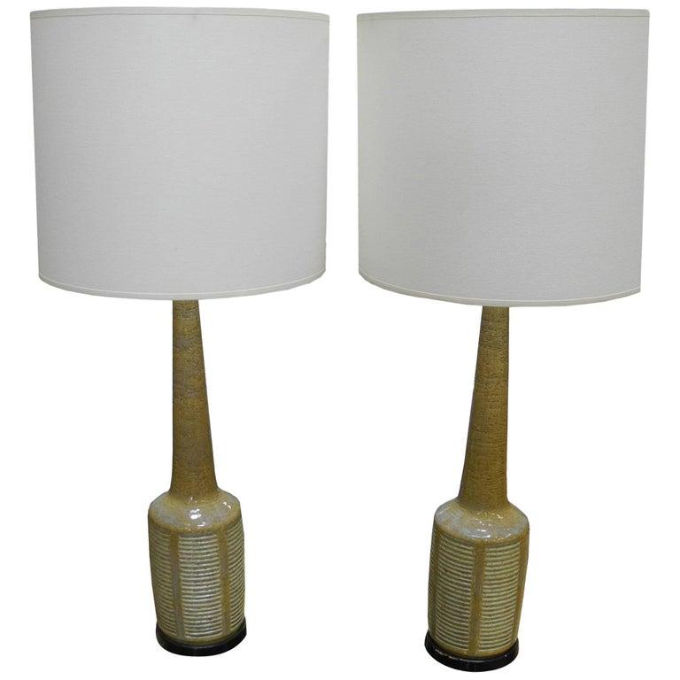 Pair of Danish Modern Palshus Ceramic Lamps for Hansen