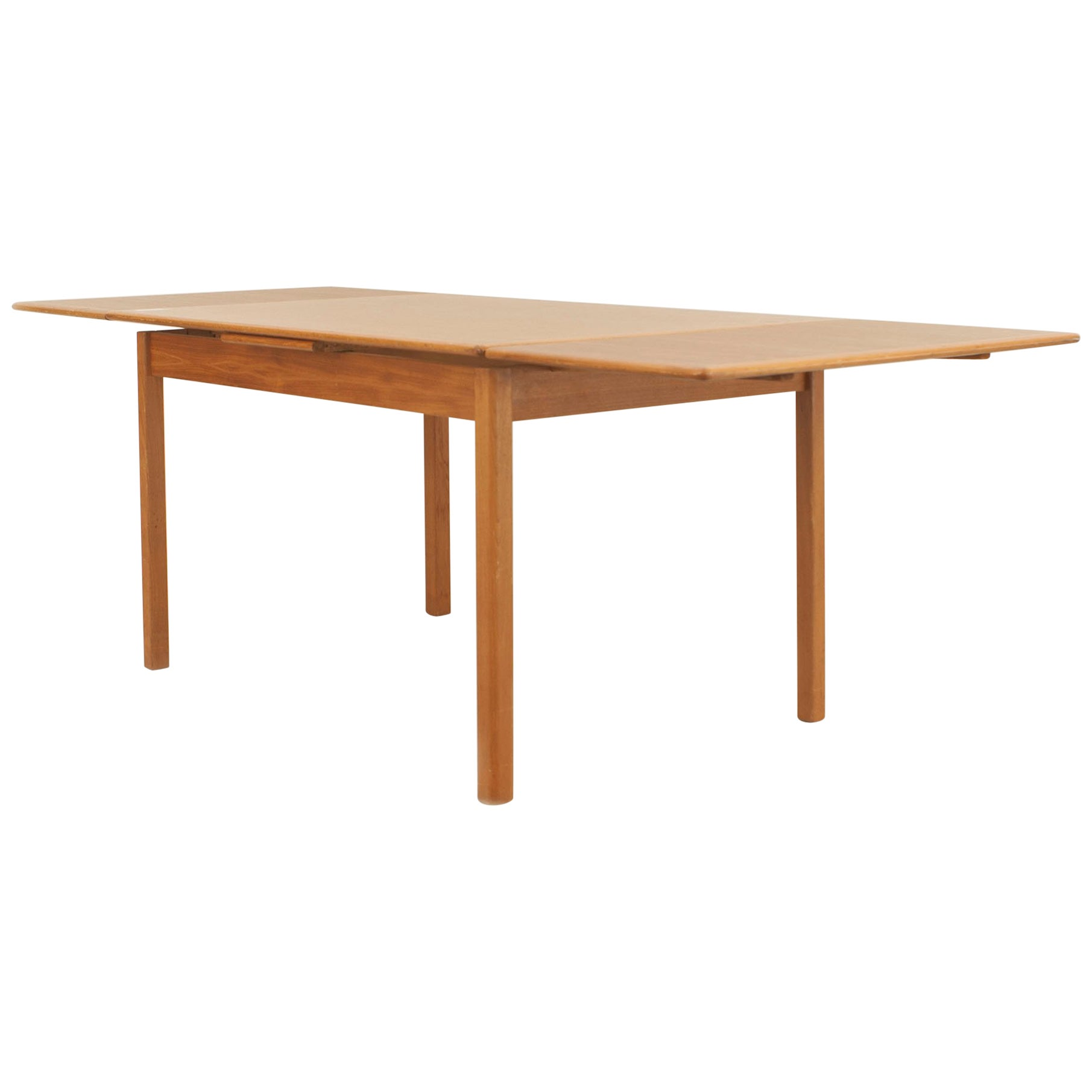 Danish Post-War Design Expandable Teak Dining Table