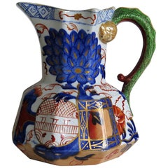 Early 19th Century Davenport Jug or Pitcher Ironstone Jardiniere Pattern