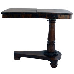 19th Century Rosewood Regency Duo Angle Adjustable Bookrest Reading Table
