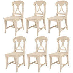 Set of Six Swedish Gustavian '19th Century' Side Chairs