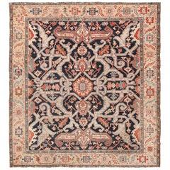 Antique Square Persian Serapi Rug
