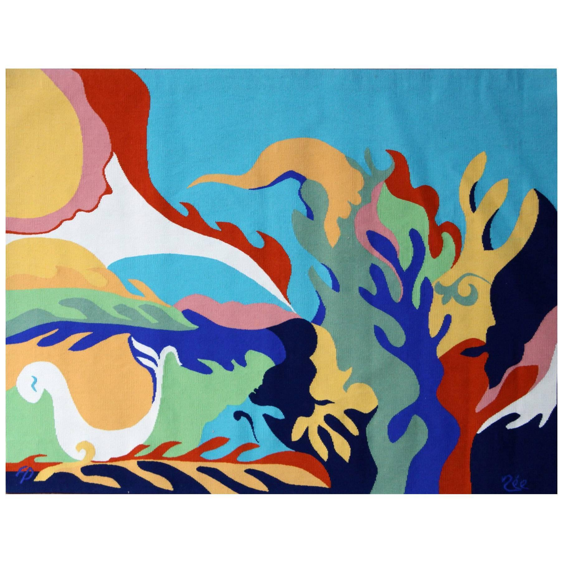 'Il Revient… des Visages' Wall Tapestry by Paulette Née & Pinton
