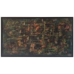 Abstract Painting in Black Frame