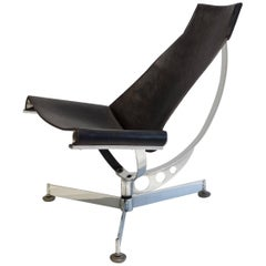 Max Gottschalk Sling Chair in Chrome and Leather