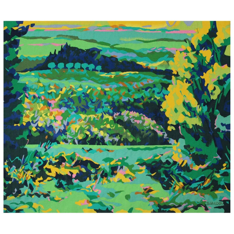 'San Casciano' Wall Tapestry by Frédéric Brandon & Pinton For Sale