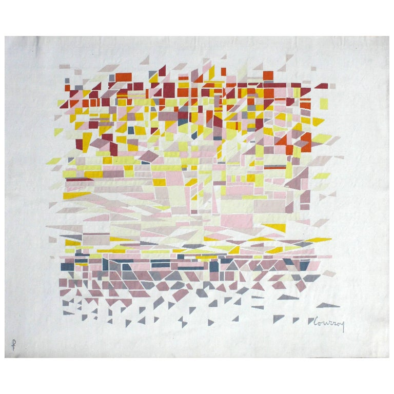 'Soleil Urbain' Wall Tapestry by Courroy & Pinton For Sale