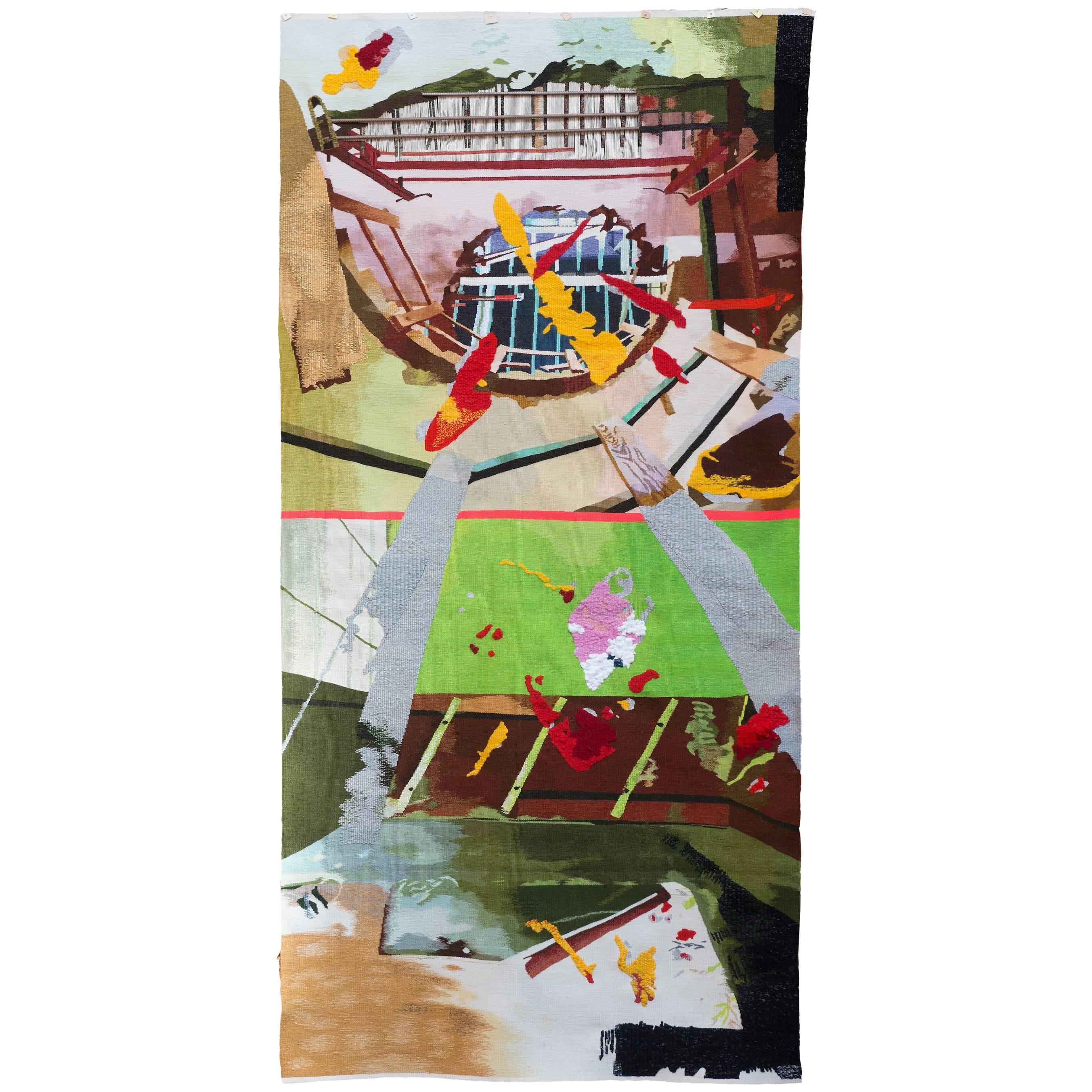 'Breakaway' Wool Wall Tapestry by Lionel Jadot & Pinton