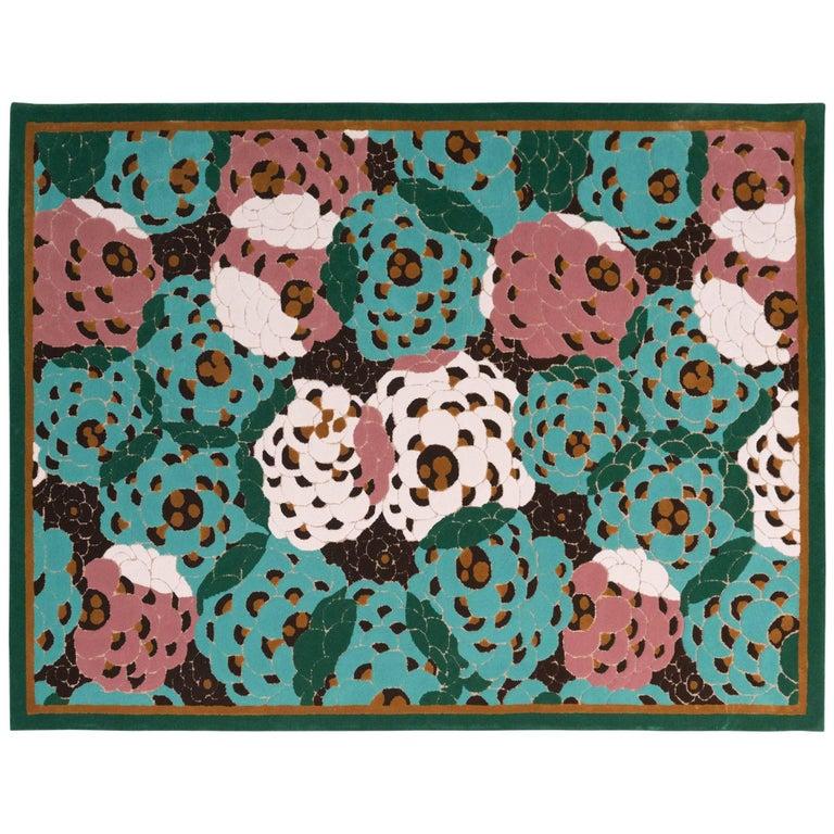 'Les Pierre De Ronsard' Hand-Tufted Area Rug by Josephine Pinton & Pinton For Sale