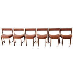 Mid-Century Modern Teak Wedge-Shaped Dining Chairs by G-Plan, Set of Six