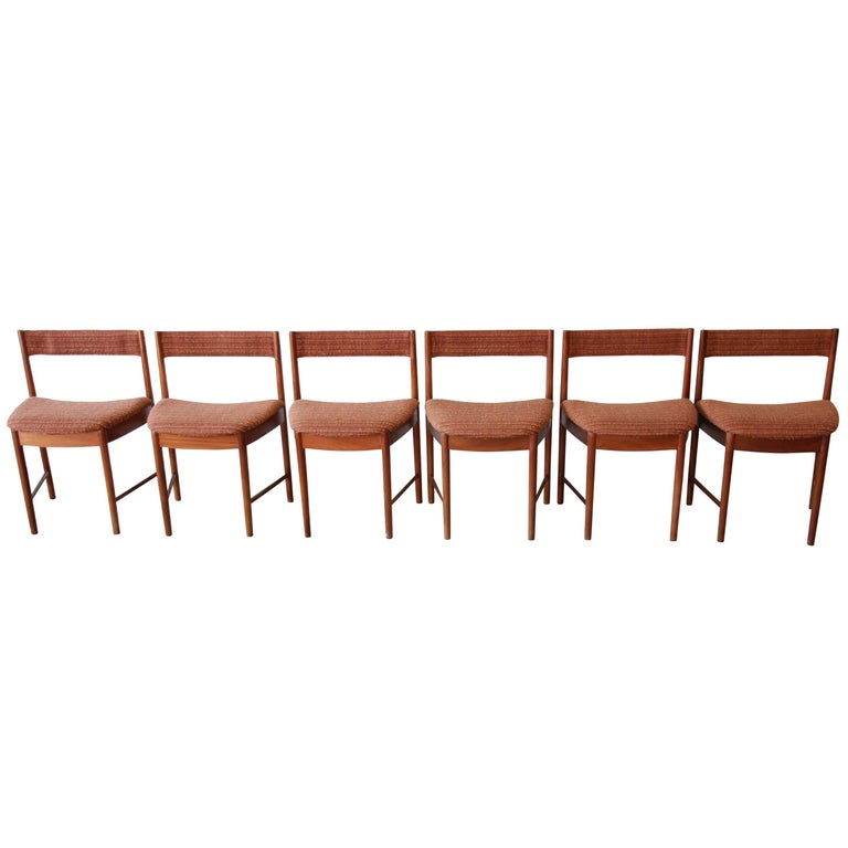 Amazing Mid Century Modern Teak Wedge Shaped Dining Chairs By G Plan Set Of Six Dailytribune Chair Design For Home Dailytribuneorg