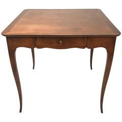 Two-Sided 1940s Fruitwood Carlhian Paris Decorative French Writing or Game Table