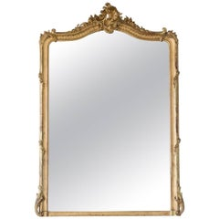 Antique Mirror with Shell and Leaf Motif, 1880