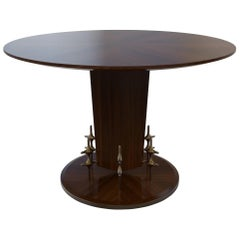 Custom Wood and Bronze Ico Centre Table from William Collins Collection