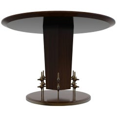 William Collins Collection Wood and Bronze Ico Centre or Dining Table