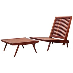 George Nakashima Spindle Back Lounge Chair and Ottoman, 1952