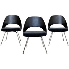 Modern Eero Saarinen for Knoll Set of Three Office Side Chairs, 2011