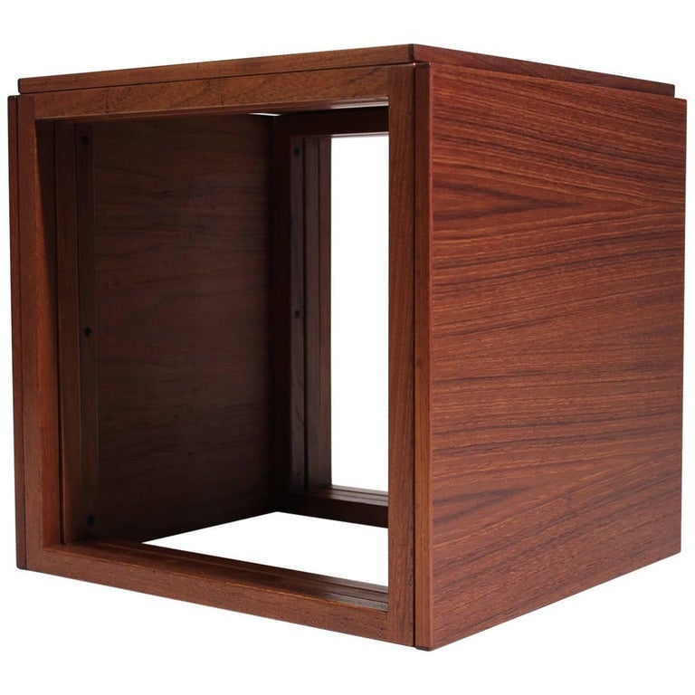 Modernist Danish Kai Kristiansen Teak Wood Modular Nesting Tables For Sale
