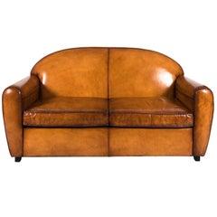 Art Deco Leather Sofa