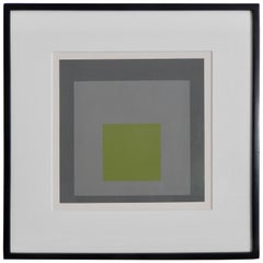 "Josef Albers, ""Thaw"" Screen Print #2, Homage to the Square, 1962"
