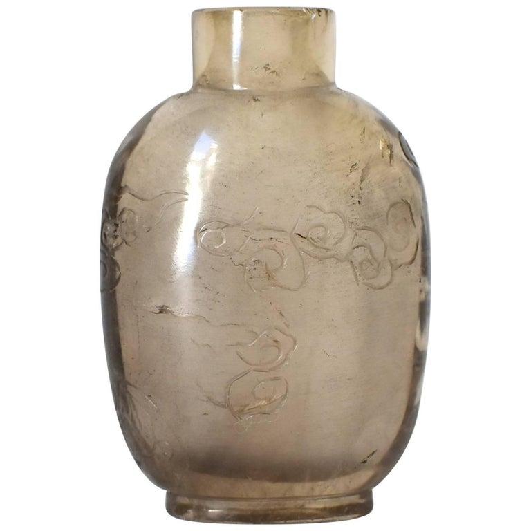Antique Rock Crystal Snuff Bottle