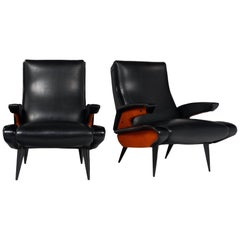 Midcentury French Armchairs