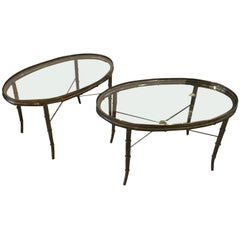 Pair of Mastercraft Oval Coffee Tables