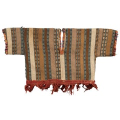Complete Nazca Baby Poncho with Red Fringe