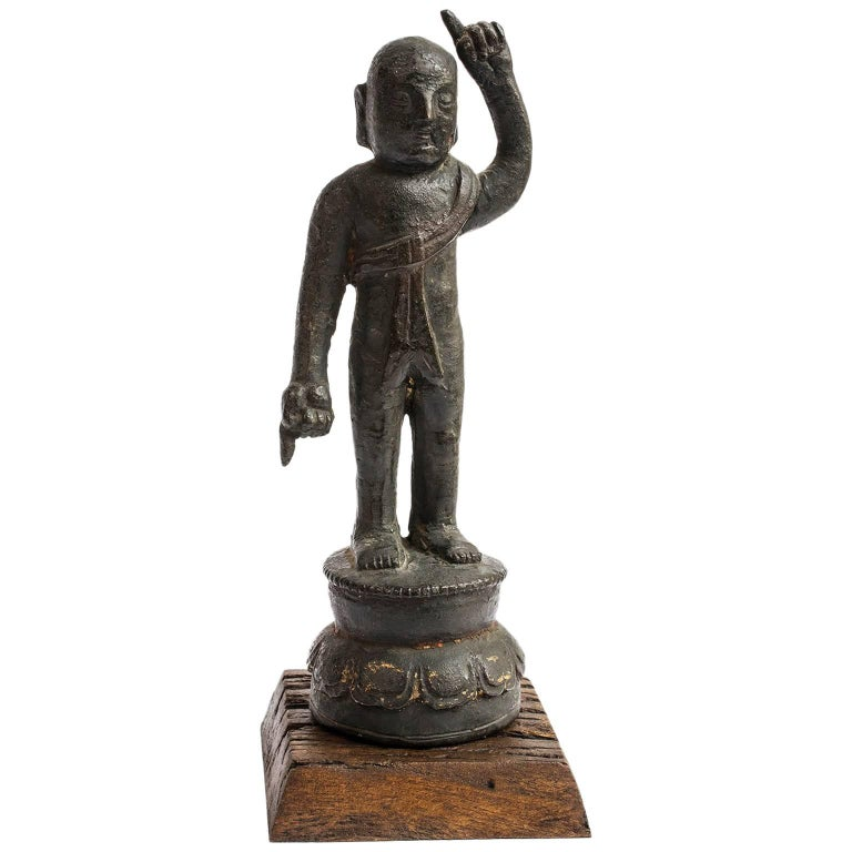 17th Century Chinese Ming Bronze Figure of a Ho Ho Boy