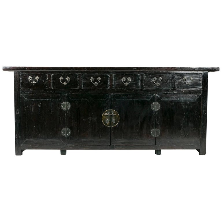 19th Century Chinese Six-Drawer Two-Door Coffer