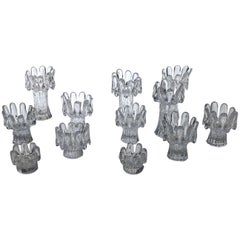 Set of 12 Crystal Candleholders