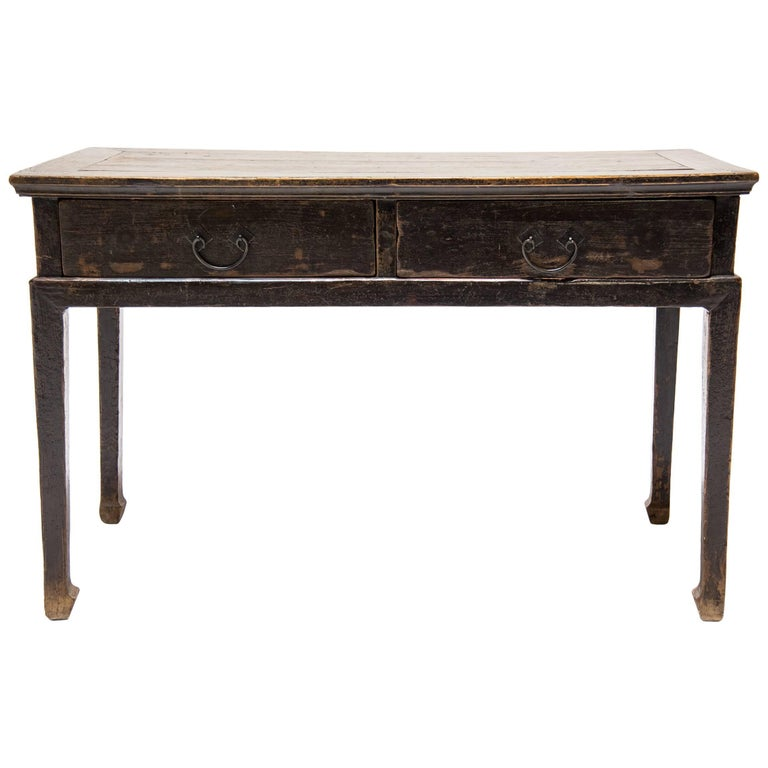 18th Century Chinese Two-Drawer Table