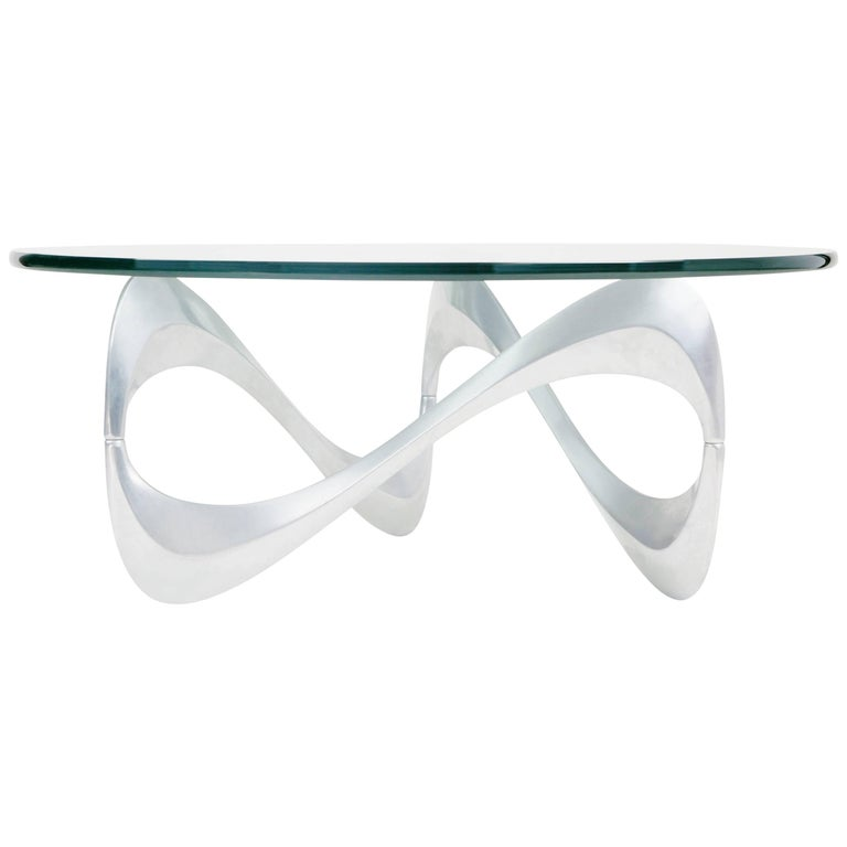 """Snake"" Coffee Table by Knut Hesterberg for Ronald Schmitt, circa 1960 For Sale"