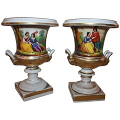 "19th Century Pair of Vases ""Porcelaine de Paris"""