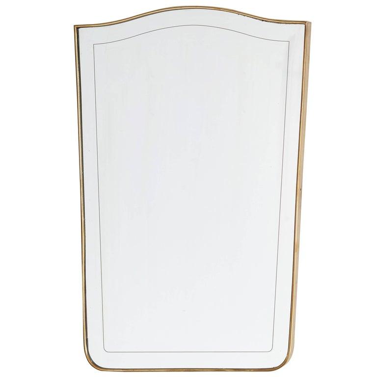 "Italian Brass ""Shield"" Mirror"